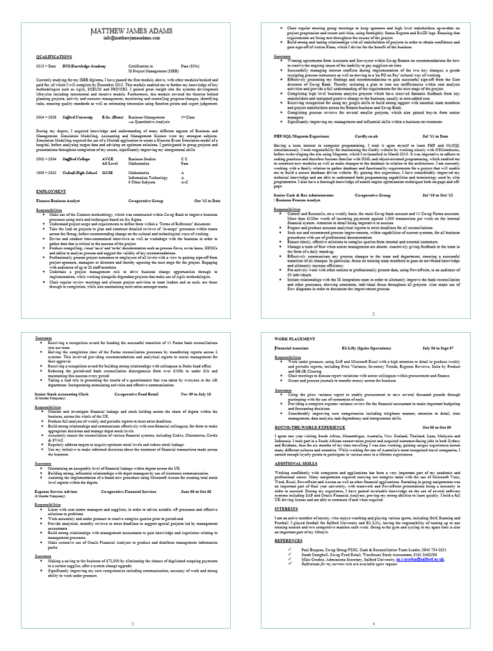 Lead Business Analyst Resume Examples 2015 Sample Free Template