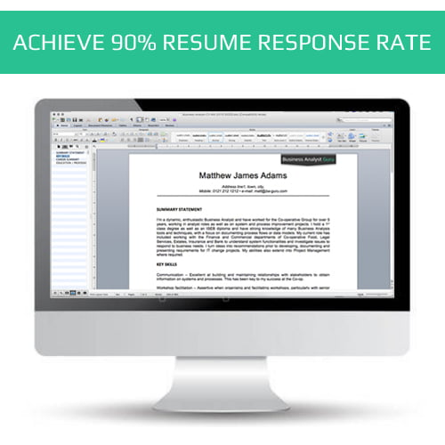 BA Resume CV writing services Business Analyst Guru